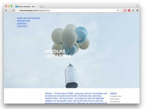 Website Nikolas Lestaeghe