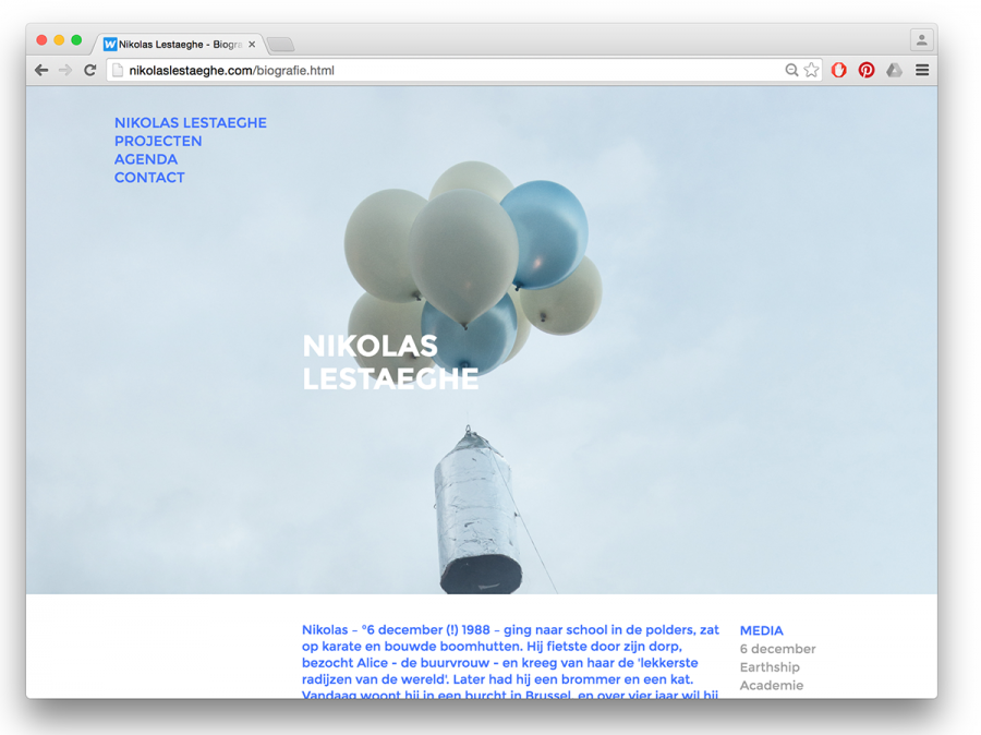 Website Nikolas Lestaeghe